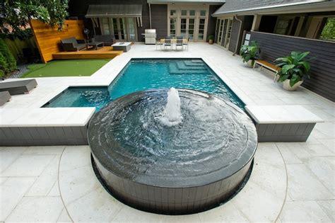 modern contemporary fireplaces atlanta pool builder geometric in ground luxury swimming