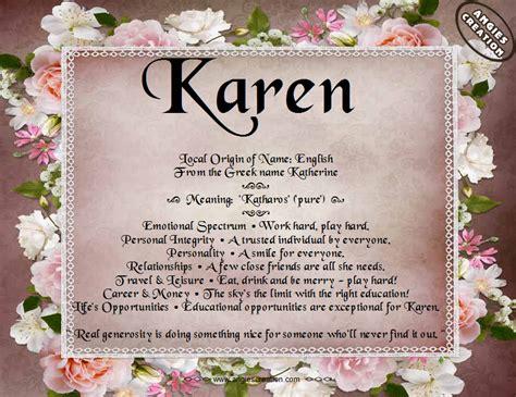 meaning    karen random stuff pinterest