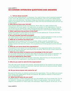 Best Photos of Interview Questions And Answers - Common ...