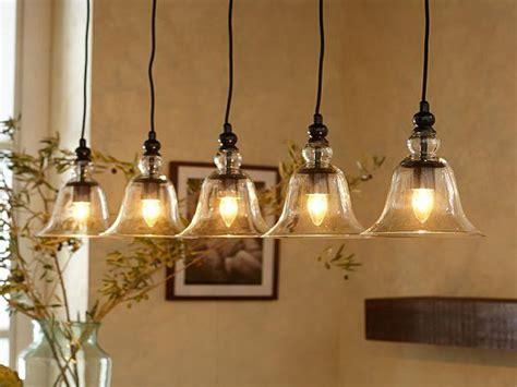 pottery barn rustic glass pendant light interior designs