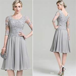 2016 new silver beach mother of the bride dresses half With silver dress for wedding guest