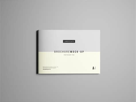 landscape brochure mockup psd