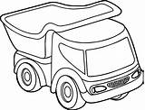 Toy Coloring Truck Drawing Pages Appealing Clip Getcolorings Printable Clipartmag Getdrawings Trailer Line sketch template