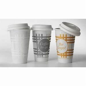 Porzellanbecher To Go : porzellanbecher coffee to go 2 farbig bedruckt ~ Orissabook.com Haus und Dekorationen