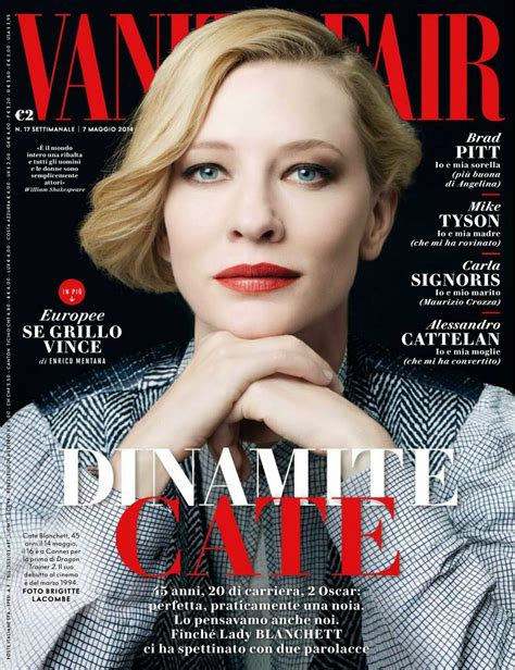 vanity fair magazine cate on vanity fair italy may 2014 cate blanchett daily