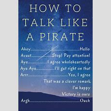 Talk Like A Pirate Day  How To