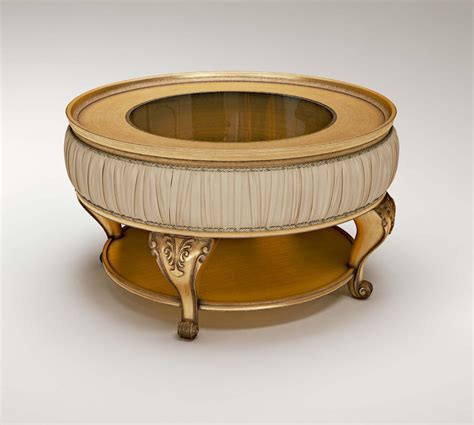 solid wood round coffee table round coffee table with glass top passepartout frame made