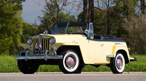 1949 willys jeepster 1949 willys jeepster vj3 6 convertible s104 chicago 2015