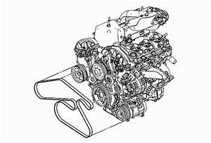 2007-2008 Gmc Acadia V6 3 6l Serpentine Belt Diagram