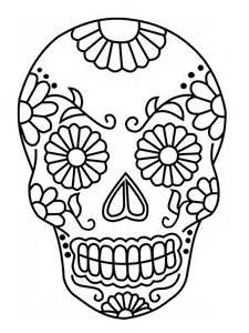 Coloriage T Te De Mort Mexicaine 20 Dessins Imprimer