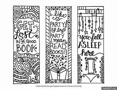Coloring Printable Bookmarks Adult Pages Bookmark