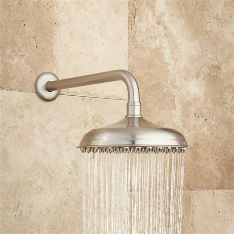 Extended Shower Arm - piermont rainfall raised nozzle shower with extended