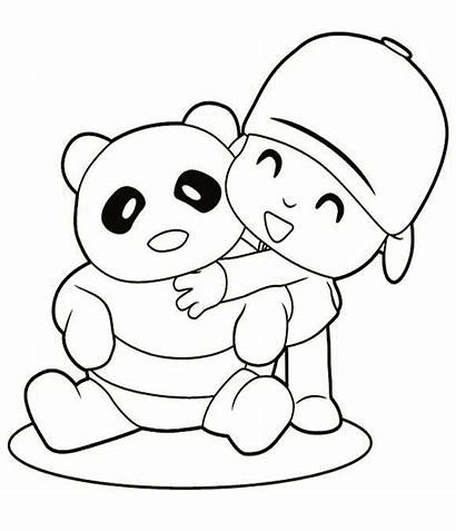 Coloring Panda Bear Pages Printable Pocoyo Sheet