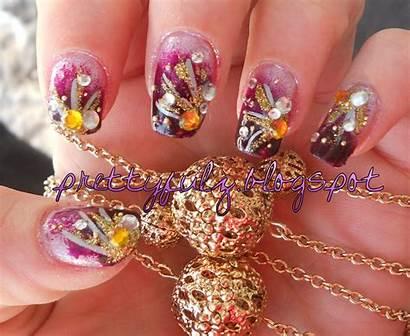 Nail Purple Deco Nails Designs Japanese