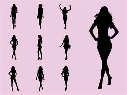 Models Silhouette Clipart Clip Modeling Catwalk Freevector