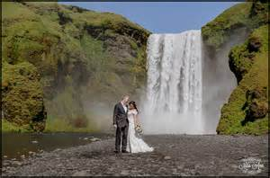 low budget wedding skogafoss waterfall wedding photos iceland wedding
