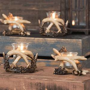 antler votive candle holders set of 2 With kitchen cabinets lowes with engraved votive candle holders