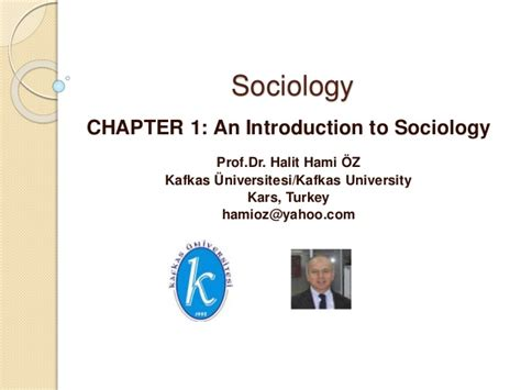 Chapter 1 An Introduction To Sociology