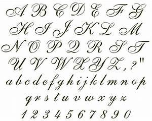 Cursive font sample Alfabetos e Caligrafia Pinterest