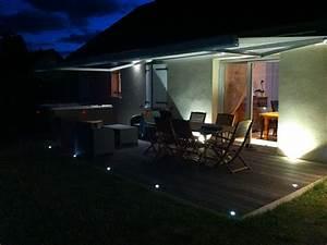 Terrasse Lampen Led : eclairage terrasse ext rieure avec spots led lc electricit ~ Markanthonyermac.com Haus und Dekorationen