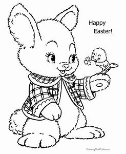 Happy Easter Coloring Page - Coloring Home