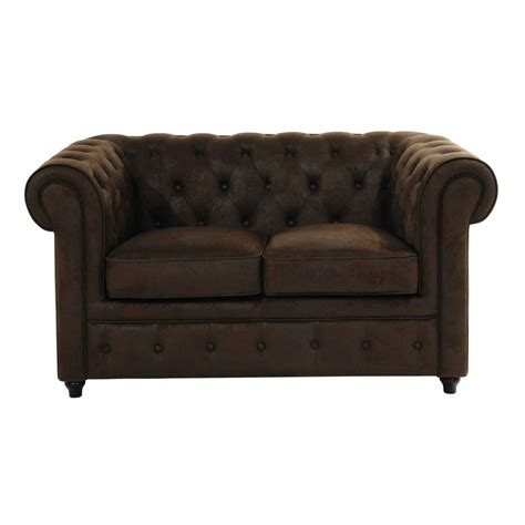 canapé chesterfield marron canapé capitonné 2 places marron chesterfield maisons du
