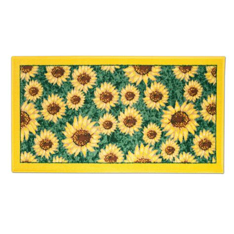 Kitchen Rugs Sunflowers by Sunflower Design 18 X 30 Rectangle Non Slip Accent Kitchen