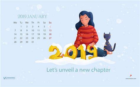 Janvier 2019, Calendriers, Hd, Bureau, Thème Liste D