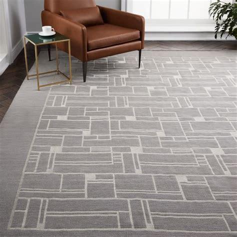 mid century rugs mid century embroidered rug west elm