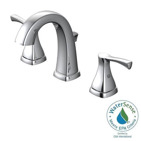 glacier bay jaci 8 in widespread 2 handle bathroom faucet