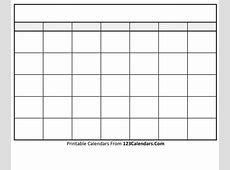 Printable Blank Calendar Templates 123CalendarsCom