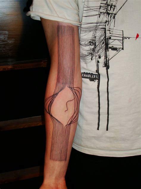 broken lines  tattoo design ideas
