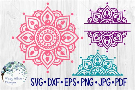Download 3d sunflower mandala layered paper art svg dxf cricut laser (779826) today! Mandala SVG Bundle | Half Mandala |Personalized Name ...