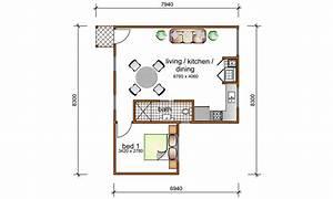 1 bedroom granny flat designs 1 bedroom granny flat With 1 bedroom floor plan granny flat