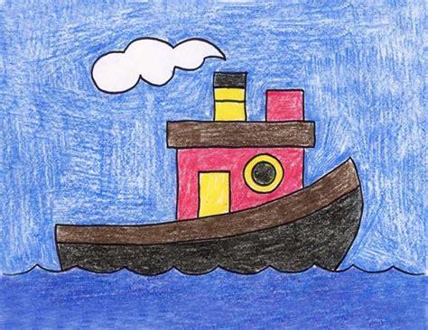 draw  tugboat art drawings  kids painting  kids drawing classes  kids