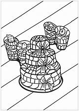 Coloring Cupcake Cup Cupcakes Cakes Colorare Disegni Adulti Colorear Adults Coloriage Adultos Malbuch Erwachsene Fur Adult Justcolor Simple Pasteles Cake sketch template