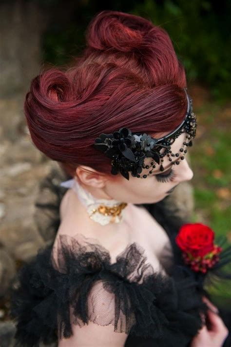 wedding photo shoot victorian gothic gothic hairstyles