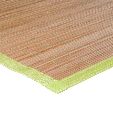tapis en bambou pas cher tapis bambou pas cher vert anis 120x180cm monbeautapis