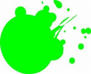 Neon Green Dot Splat Clip Art at Clker vector clip