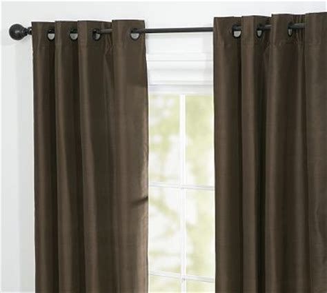 Pottery Barn Curtains Grommet by Dupioni Silk Grommet Drape 50 X 84 Quot Espresso