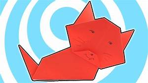 Easy Origami Paper Cat   Kids Instructions