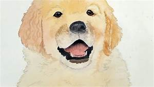 Painting A Dog's Mouth in Watercolor - YouTube