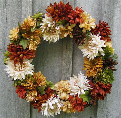 autumn wreath sale fall wreaths chrysanthemum autumn floral wreath