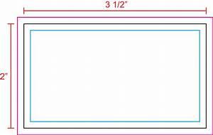 Us press templates 35 x 2 business card landscape for 3 5 x2 business card template