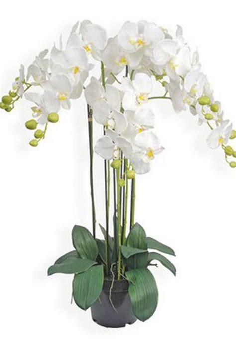 fleurs en pot orchid 233 e artificiel blanche 90cm