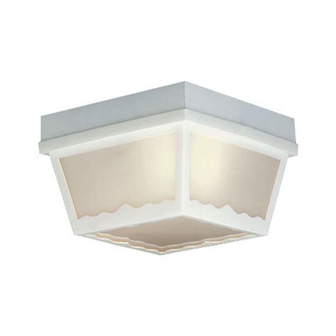 home depot flush mount ceiling light fixtures thomas lighting 1 light matte white outdoor ceiling flush