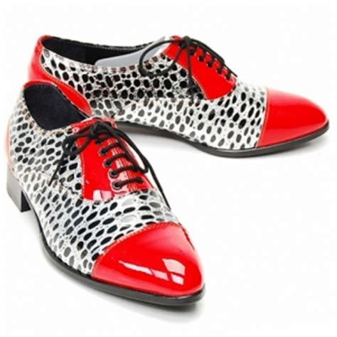 Mens Synthetic Leather Glitter Red Dot Black Lace Shoes