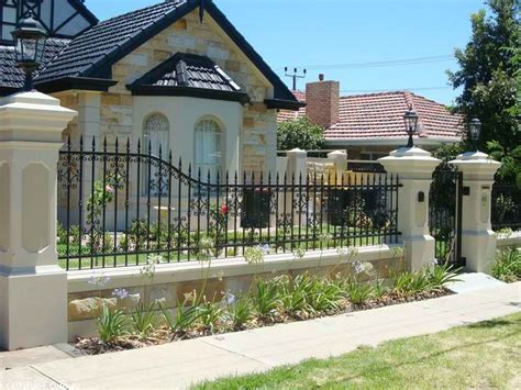 attractive modern minimalist house fence ideas  ideas