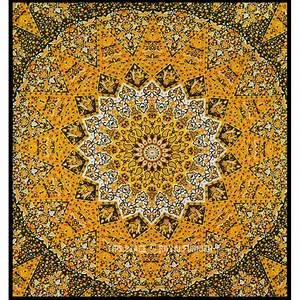Multicolor Star Mandala Tapestry Wall Hanging