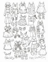 Paper Doll Coloring Valentine Dolls Pages Printable Miss Missy Disney Valentines Paperdolls Christmas Template Templates Adult Princess sketch template